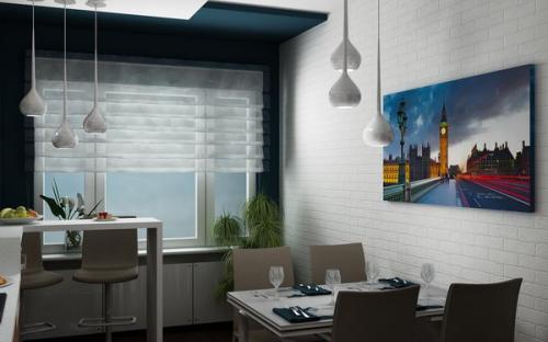 Ремонт и отделка однокомнатной квартиры. Гостиная.