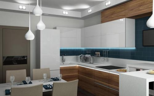 Ремонт и отделка однокомнатной квартиры. Кухня.